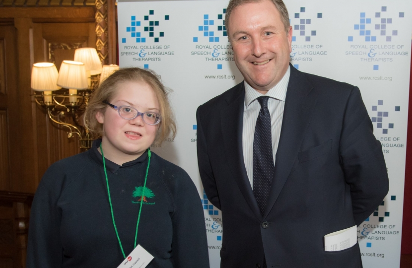 Simon Hoare MP and Violet Castell